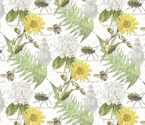 My Backyard fabric by littlerhodydesign on Spoonflower - custom fabric
