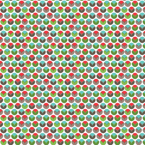 snail garden dots (bright) fabric by einekleinedesignstudio on Spoonflower - custom fabric