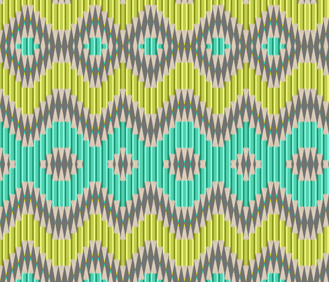Pencil Ikat fabric by candyjoyce on Spoonflower - custom fabric