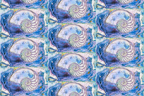 Nautilus Dance 2 fabric by dovetail_designs on Spoonflower - custom fabric