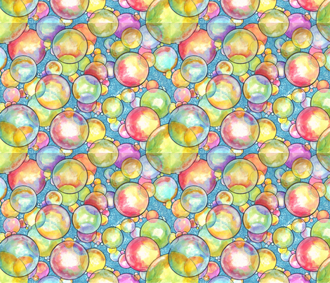 bubble_bath_too fabric by barbarabell on Spoonflower - custom fabric