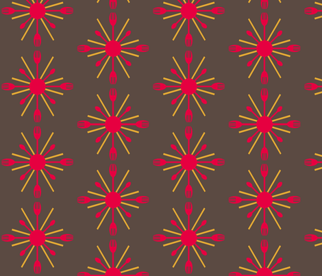Serving Up A Sunburst fabric by megananne on Spoonflower - custom fabric