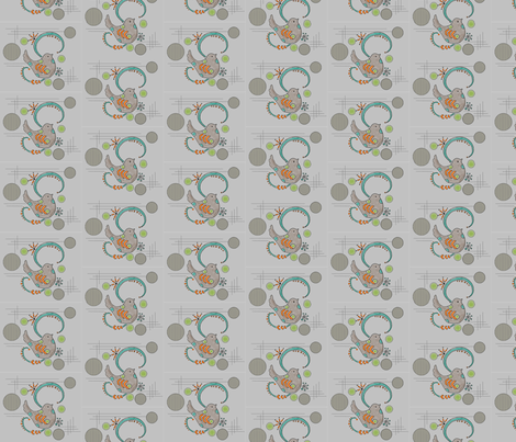 Gray Doodle Birds fabric by cil on Spoonflower - custom fabric