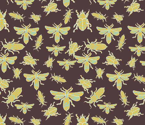 BROCADE_BUGS fabric by lfntextiles on Spoonflower - custom fabric