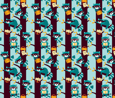 Racoons are taking over!!! fabric by bora on Spoonflower - custom fabric