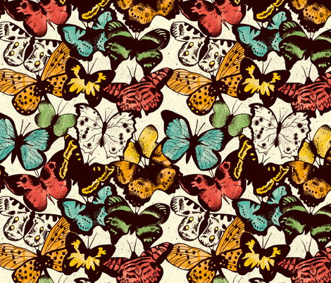 Butterflies fabric by keys on Spoonflower - custom fabric