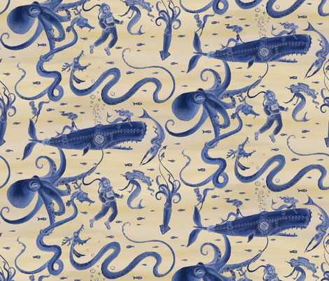 The not so Deep Deep Depths fabric by ceanirminger on Spoonflower - custom fabric
