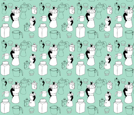 coffee_time fabric by ewela on Spoonflower - custom fabric