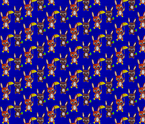 Bunny is the new Owl (PLEASE ZOOM) fabric by enyahulk on Spoonflower - custom fabric