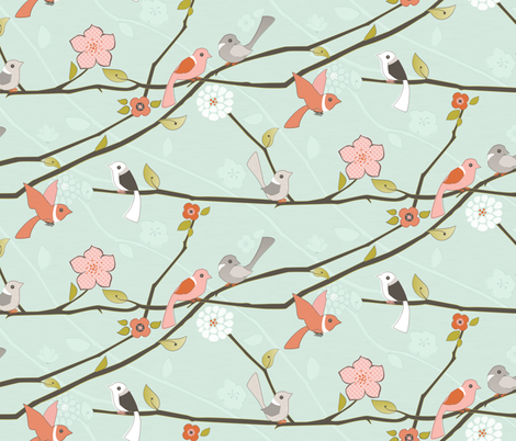 Wake Up Call fabric by ttoz on Spoonflower - custom fabric