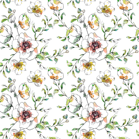 Orchard Blossom fabric by hackneyandco on Spoonflower - custom fabric