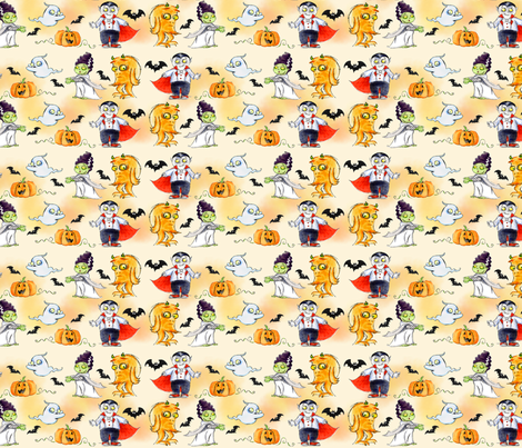Monster Mash fabric by cherryandcinnamon on Spoonflower - custom fabric