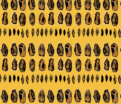 cestlaviv_dried dates fabric by cest_la_viv on Spoonflower - custom fabric