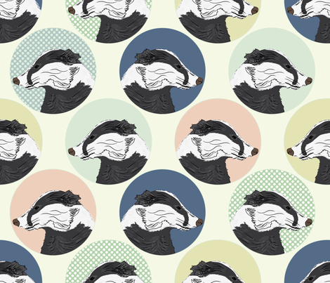 eulen&lerchen_badger fabric by eulen&lerchen on Spoonflower - custom fabric