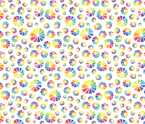 Rainbow Colour Wheels fabric by happysewlucky on Spoonflower - custom fabric