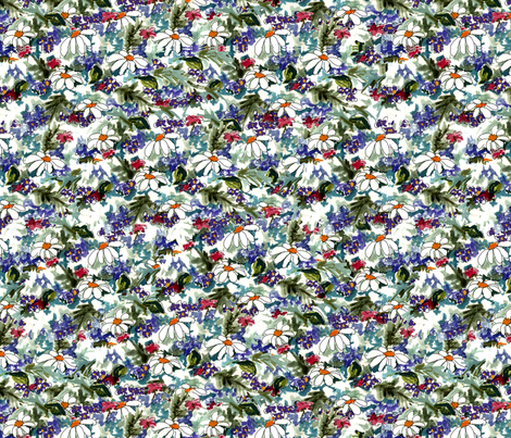 Floral Frenzy fabric by holly_helgeson on Spoonflower - custom fabric