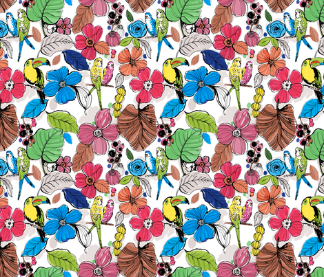Birds of Copan fabric by chulabird on Spoonflower - custom fabric