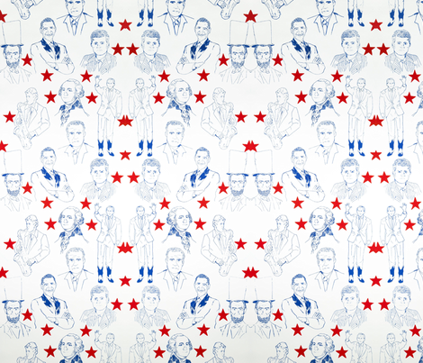 PresidentialWallpaperRepeat fabric by laurencrawford on Spoonflower - custom fabric