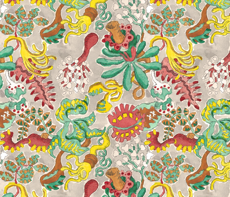 Fantasy Floral fabric by eric_johnston on Spoonflower - custom fabric