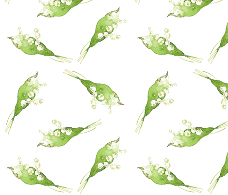 Lilly of the Valley II fabric by joanna_oh! on Spoonflower - custom fabric