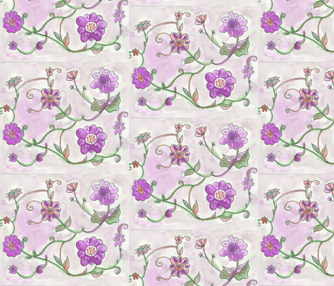 floral_fancy fabric by lea_elina on Spoonflower - custom fabric