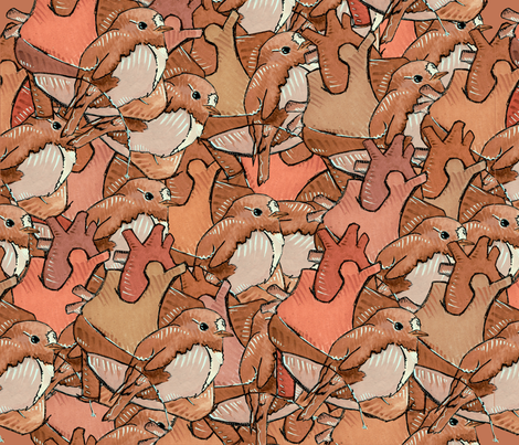 sparrow fabric by narthex on Spoonflower - custom fabric