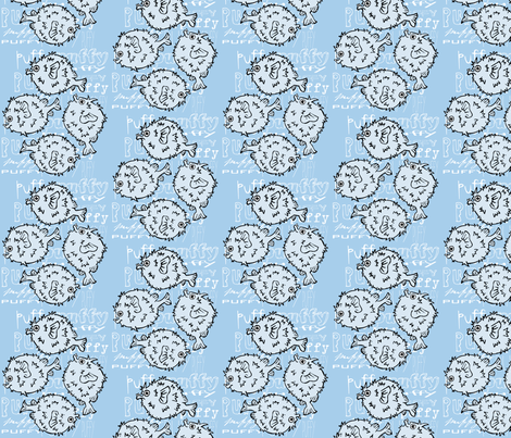 Puffy the Pufferfish! fabric by pattyryboltdesigns on Spoonflower - custom fabric