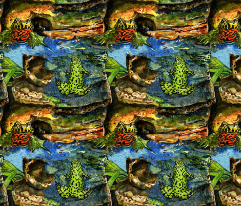 Frog fabric by worldwidedeb on Spoonflower - custom fabric