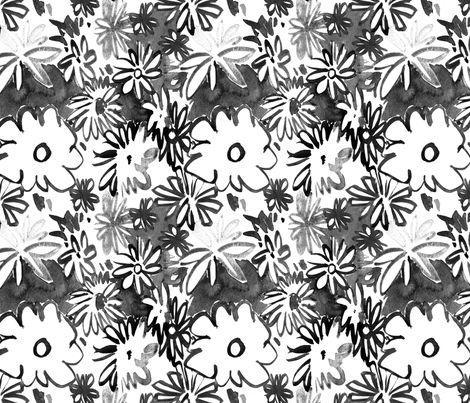 cestlaviv_daisies fabric by cest_la_viv on Spoonflower - custom fabric