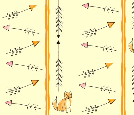 that sly fox fabric by fable_design on Spoonflower - custom fabric