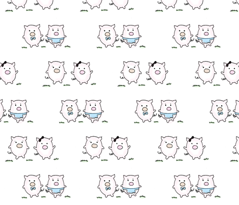 these little piggies fabric by megananne on Spoonflower - custom fabric
