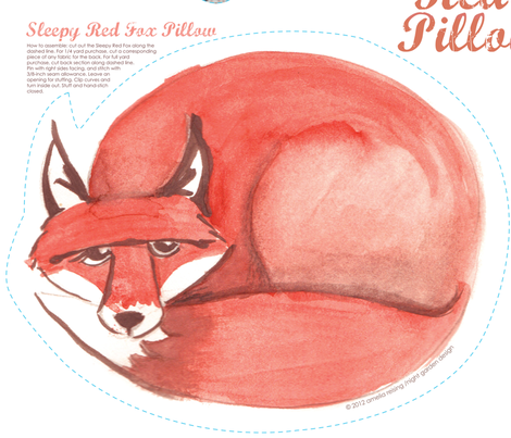 Red Fox Pillow Set (please zoom for details!) fabric by nightgarden on Spoonflower - custom fabric