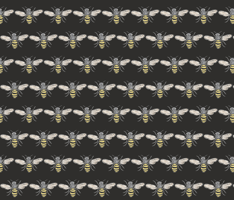 Beneficial Bumblebees fabric by owlandchickadee on Spoonflower - custom fabric
