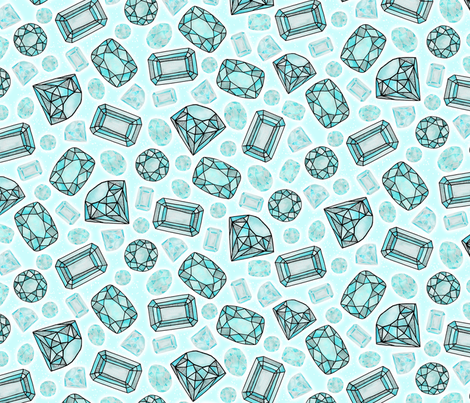 ice, ice baby fabric by bubbledog on Spoonflower - custom fabric