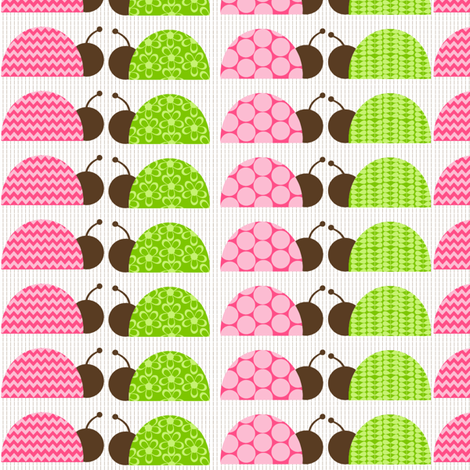 Mod Ladybugs! fabric by natitys on Spoonflower - custom fabric