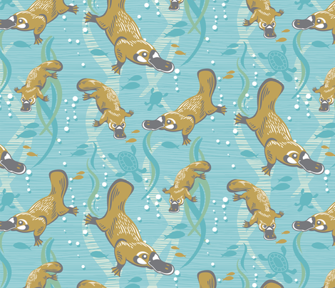 playful_platypus fabric by cjldesigns on Spoonflower - custom fabric