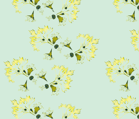 Sea Flower-ch fabric by kathep on Spoonflower - custom fabric