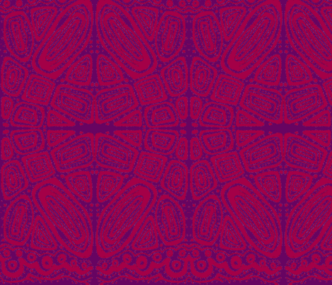 friends_2-batik style-red & purple fabric by kcs on Spoonflower - custom fabric