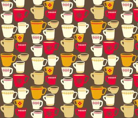 vintage mugs fabric by heidikenney on Spoonflower - custom fabric