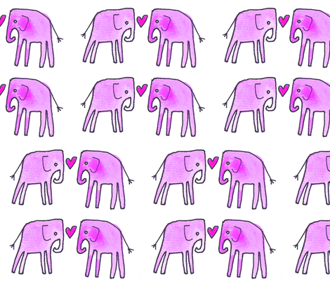 Pink Elephant Parade fabric by creedancelovesyou on Spoonflower - custom fabric