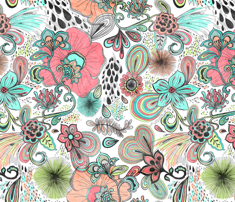 Blooming Flora fabric by my_zoetrope on Spoonflower - custom fabric