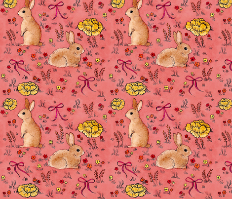 Rabbits are the new Owls fabric by needlebook on Spoonflower - custom fabric