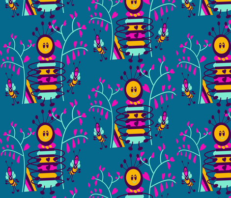 marzlene_CRITTERS fabric by marzlene'z_eye_candy on Spoonflower - custom fabric