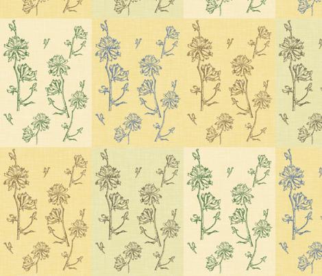 Chicory Field fabric by retrofiedshop on Spoonflower - custom fabric