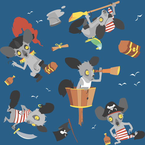 Aye-Aye, Captain! fabric by theboerwar on Spoonflower - custom fabric