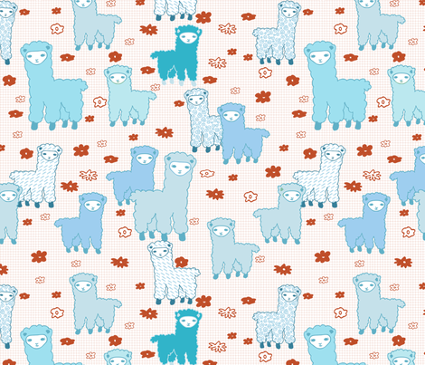 a pack of alpacas  fabric by babysisterrae on Spoonflower - custom fabric