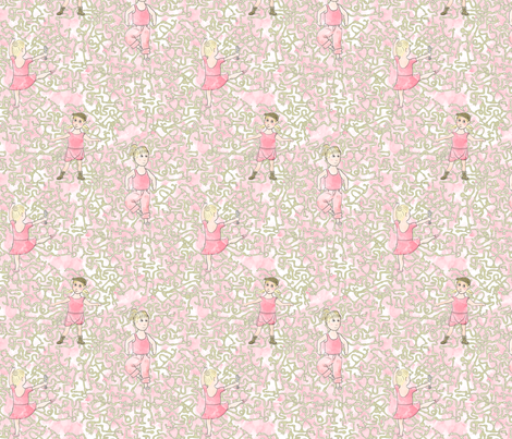 Ballerina Plumber fabric by mongiesama on Spoonflower - custom fabric
