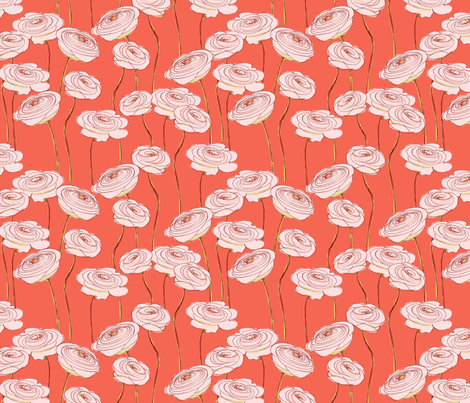 ranunculus fabric by juliannlaw on Spoonflower - custom fabric