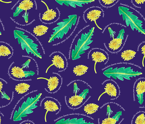 Dandelions fabric by brandymiller on Spoonflower - custom fabric
