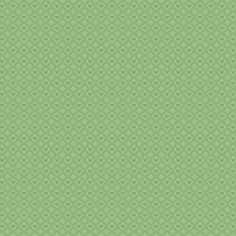Green hearts fabric by iamnotadoll on Spoonflower - custom fabric